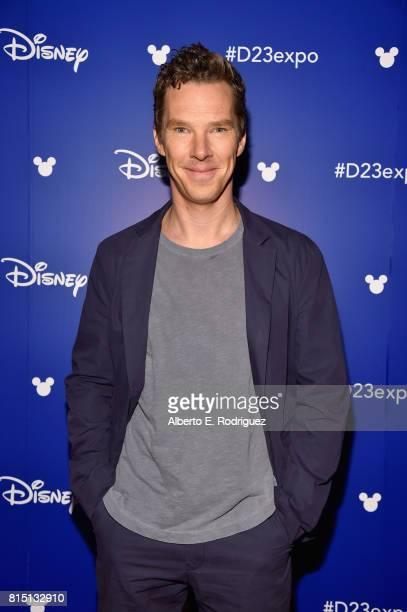 Actor Benedict Cumberbatch of AVENGERS INFINITY WAR took part today in the Walt Disney Studios live action presentation at Disney's D23 EXPO 2017 in...