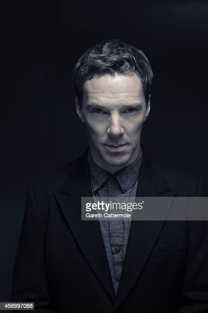 Actor Benedict Cumberbatch poses in the portrait studio at the BFI London Film Festival 2014 on October 8 2014 in London England