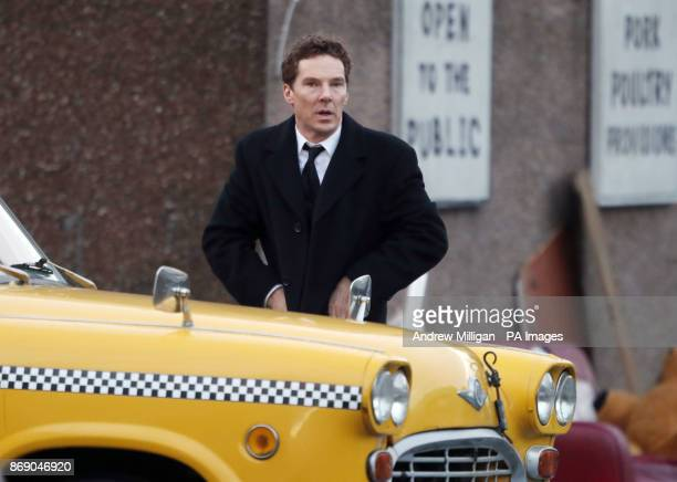 Actor Benedict Cumberbatch shooting scenes in Glasgow which was transformed into New York City for filming of the TV show Melrose