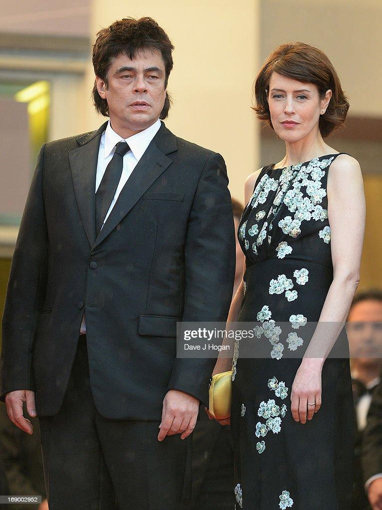 Actor Benicio Del Toro and actress Gina McKee attends the 'Jimmy P. (Psychotherapy Of A Plains Indian)' Premiere during the 66th Annual Cannes Film Festival at the Palais des Festivals on May 18, 2013 in Cannes, France.