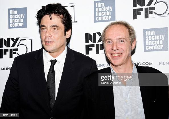 Actor Benicio del Toro and director Arnaud Desplechin attend the 'Jimmy P Psychotherapy Of A Plains Indian' premiere during the 51st New York Film...