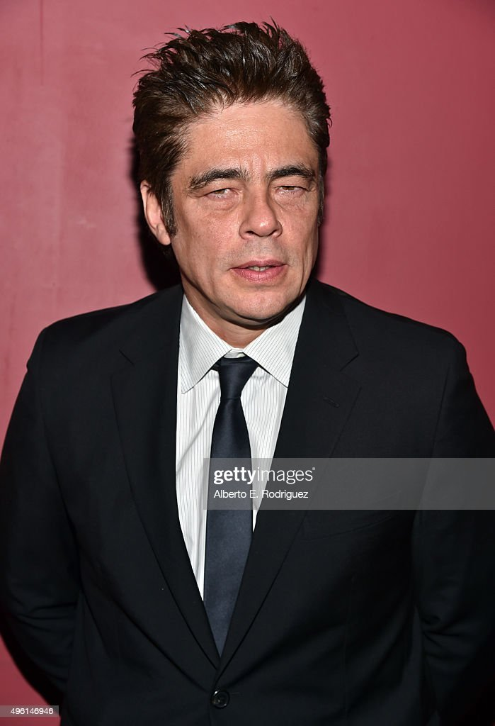 Actor Benicio del Toro attends 'A Conversation with Benicio Del Toro' during AFI FEST 2015 presented by Audi at the Egyptian Theatre on November 7, 2015 in Hollywood, California.