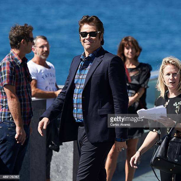 Actor Benicio del Toro attends 'Sicario' photocall during 63rd San Sebastian International Film Festival on September 19 2015 in San Sebastian Spain