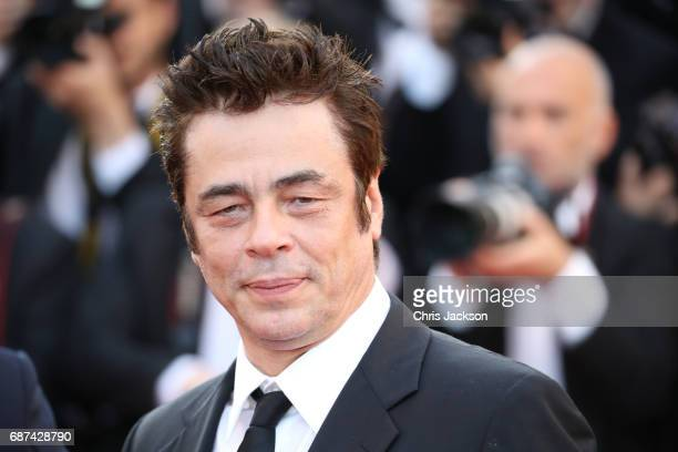 Actor Benicio del Toro attends the 70th Anniversary of the 70th annual Cannes Film Festival at Palais des Festivals on May 23 2017 in Cannes France