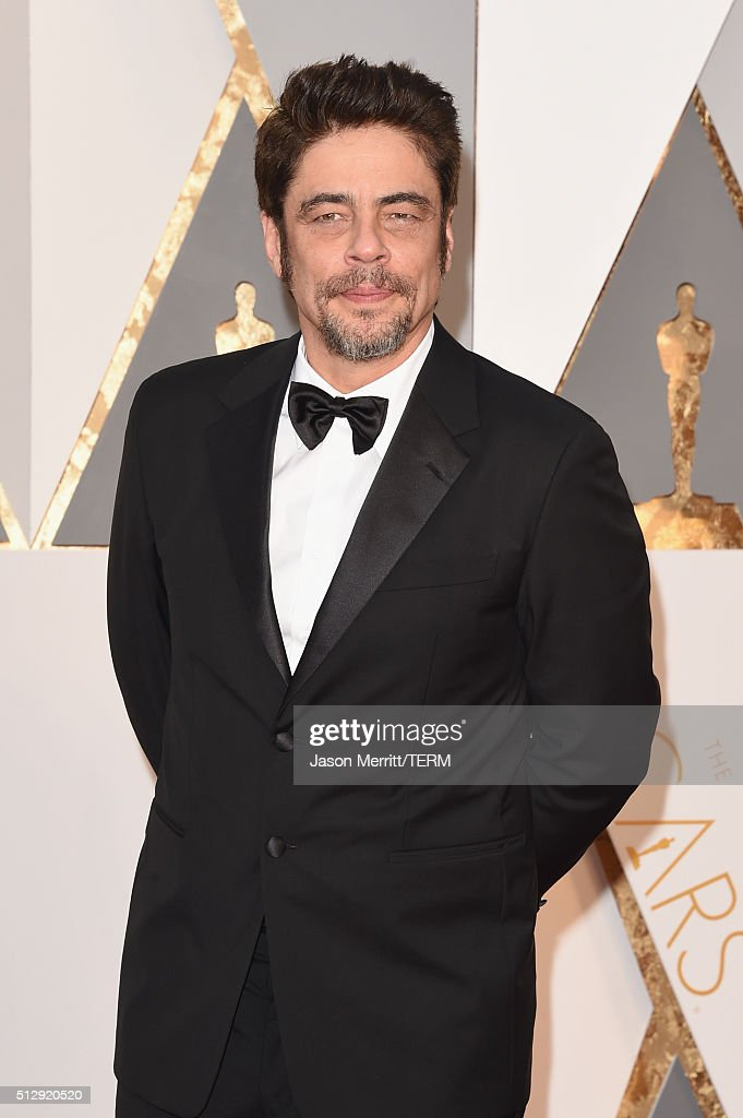 Actor Benicio del Toro attends the 88th Annual Academy Awards at Hollywood & Highland Center on February 28, 2016 in Hollywood, California.