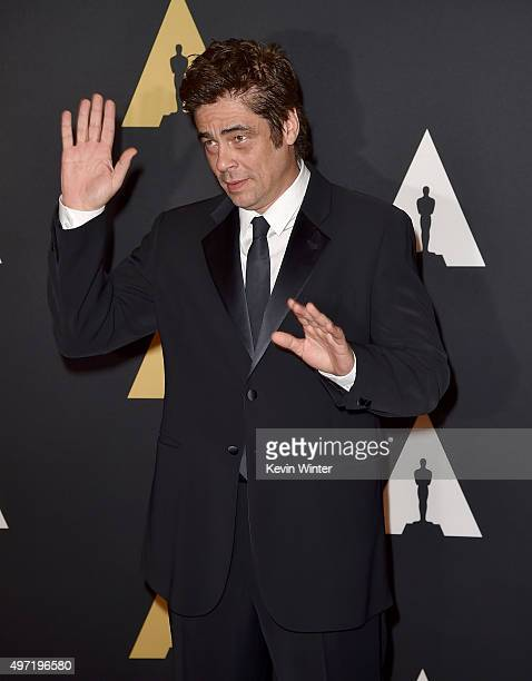 Actor Benicio Del Toro attends the Academy of Motion Picture Arts and Sciences' 7th annual Governors Awards at The Ray Dolby Ballroom at Hollywood...