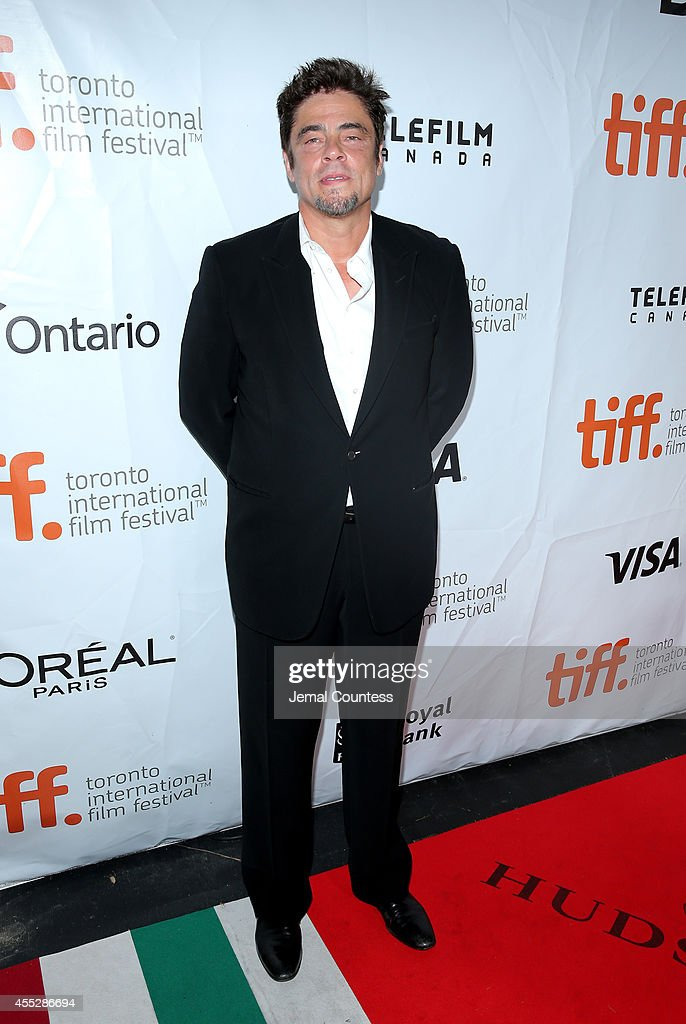 Actor Benicio del Toro attends the 'Escobar Paradise Lost' premiere during the 2014 Toronto International Film Festival at Roy Thomson Hall on...