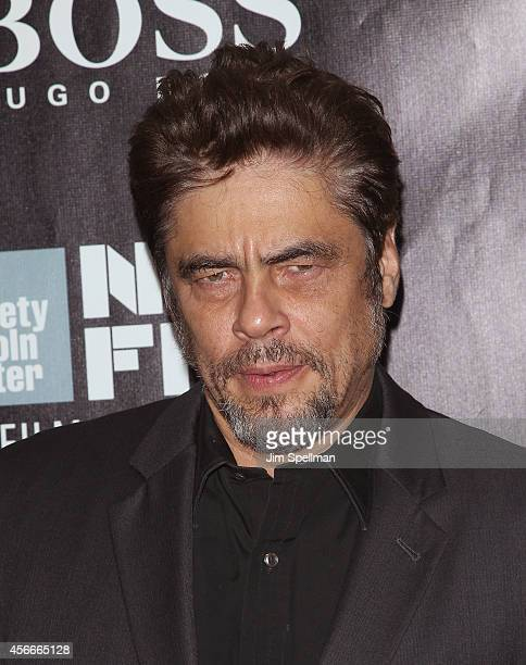 Actor Benicio del Toro attends the 'Inherent Vice' Centerpiece Gala Presentation World Premiere during the 52nd New York Film Festival at Alice Tully...