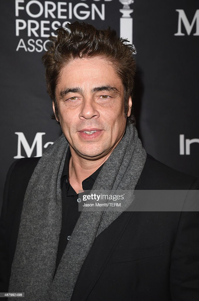 Actor Benicio Del Toro attends the InStyle HFPA party during the 2015 Toronto International Film Festival at the Windsor Arms Hotel on September 12...