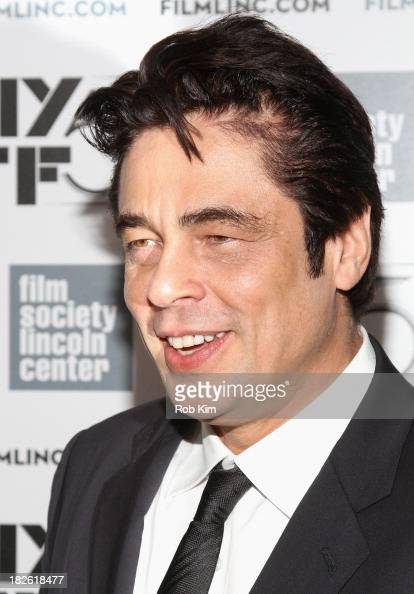 Actor Benicio del Toro attends the 'Jimmy P Psychotherapy Of A Plains Indian' premiere during the 51st New York Film Festival>> at Alice Tully Hall...