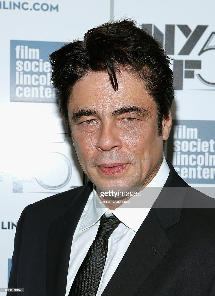 Actor Benicio del Toro attends the 'Jimmy P Psychotherapy Of A Plains Indian' premiere during the 51st New York Film Festival at Alice Tully Hall at...
