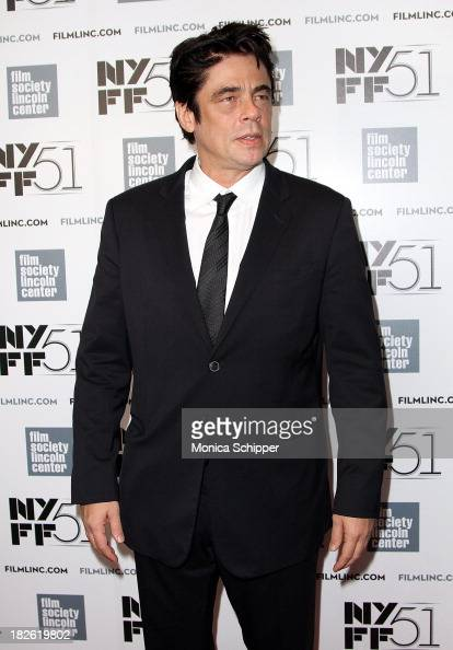 Actor Benicio del Toro attends the 'Jimmy PPsychotherapy Of A Plains Indian' premiere during the 51st New York Film Festival at Alice Tully Hall at...