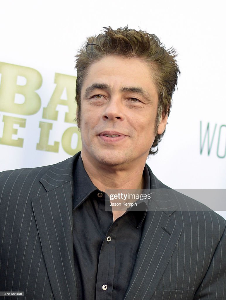 Actor Benicio del Toro attends the premiere of 'Escobar: Paradise Lost' at ArcLight Hollywood on June 22, 2015 in Hollywood, California.