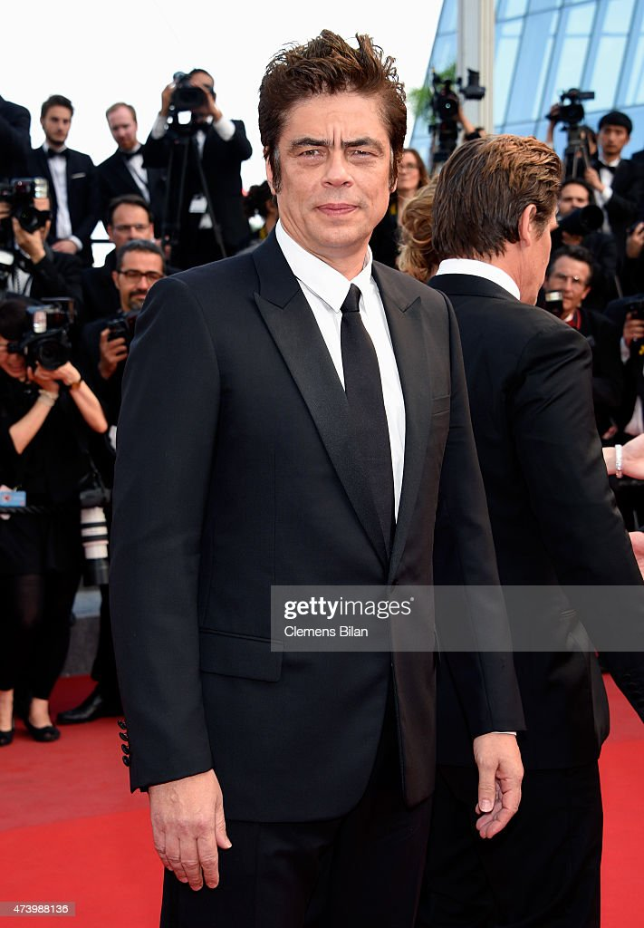 Actor Benicio Del Toro attends the Premiere of 'Sicario' during the 68th annual Cannes Film Festival on May 19 2015 in Cannes France