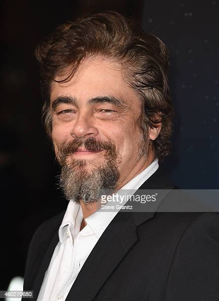 Actor Benicio del Toro attends the premiere of Warner Bros Pictures' 'Inherent Vice' at TCL Chinese Theatre on December 10 2014 in Hollywood...