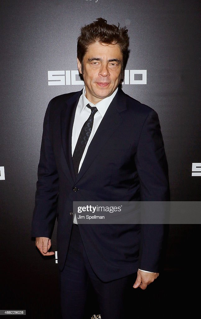 Actor Benicio del Toro attends the 'Sicario' New York premiere at Museum of Modern Art on September 14 2015 in New York City