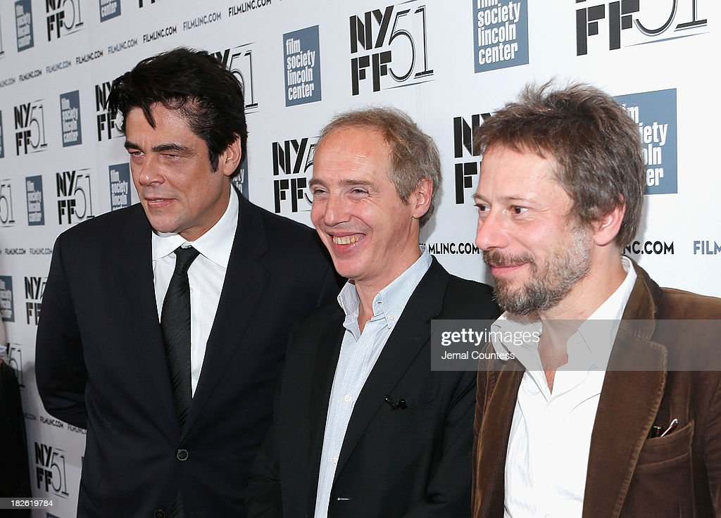 Actor Benicio del Toro, director <a gi-track='captionPersonalityLinkClicked' href=/galleries/search?phrase=Arnaud+Desplechin&family=editorial&specificpeople=2517702 ng-click='$event.stopPropagation()'>Arnaud Desplechin</a>, and actor <a gi-track='captionPersonalityLinkClicked' href=/galleries/search?phrase=Mathieu+Amalric&family=editorial&specificpeople=612979 ng-click='$event.stopPropagation()'>Mathieu Amalric</a> attend the 'Jimmy