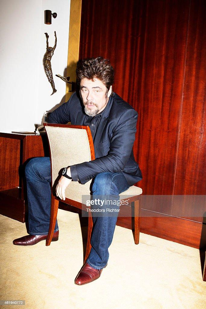 Actor Benicio Del Toro is photographed for Grazia on October 21, 2014 in Paris, France.