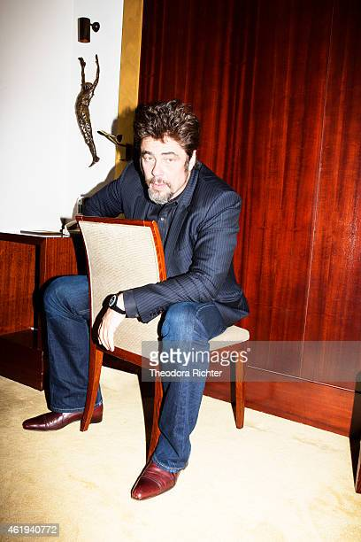 Actor Benicio Del Toro is photographed for Grazia on October 21 2014 in Paris France