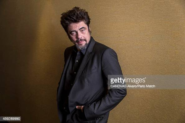 Actor Benicio Del Toro is photographed for Paris Match on October 22 2014 in Paris France