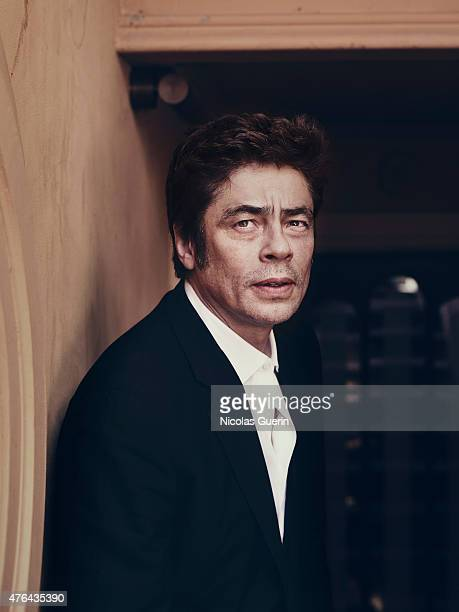 Actor Benicio Del Toro is photographed for Self Assignment on May 15 2015 in Cannes France