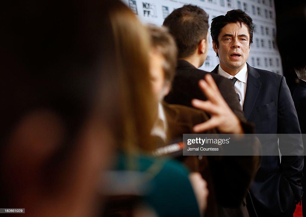Actor Benicio del Toro speaks to the media at the 'Jimmy