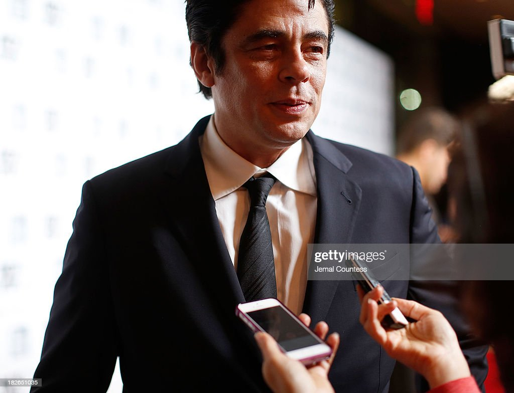 Actor Benicio del Toro speaks to the media at the 'Jimmy