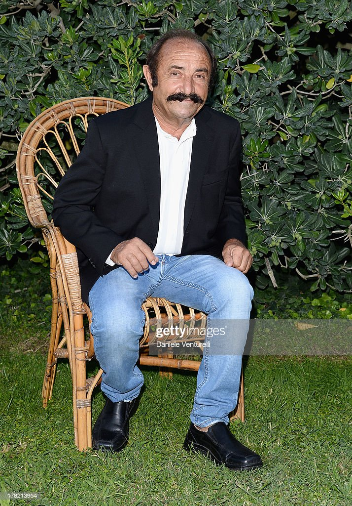 Actor Benito Urgu attends the 'L'Arbitro' Photocall during the 70th Venice International Film Festival at the Villa degli Autori on August 27, 2013 in Venice, Italy.