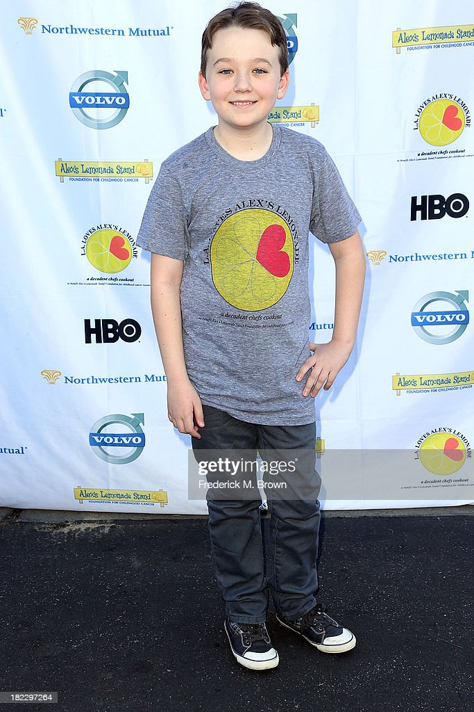 Actor Benjaim Stockman attends the L.A. Loves Alex's Lemonade Event at the Culver Studios on September 28, 2013 in Culver City, California.