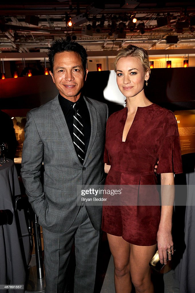 Actor <a gi-track='captionPersonalityLinkClicked' href=/galleries/search?phrase=Benjamin+Bratt&family=editorial&specificpeople=203040 ng-click='$event.stopPropagation()'>Benjamin Bratt</a> and Actress <a gi-track='captionPersonalityLinkClicked' href=/galleries/search?phrase=Yvonne+Strahovski&family=editorial&specificpeople=4387578 ng-click='$event.stopPropagation()'>Yvonne Strahovski</a> attend 24: Live Another Day World Premiere Event for Fox on Intrepid Sea, Air & Space Museum on May 2, 2014 in New York City.