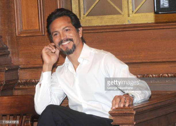 Actor Benjamin Bratt attend the ''Law Order'' 20th Season kickoff celebration at the Law Order Studio At Chelsea Piers on September 23 2009 in New...