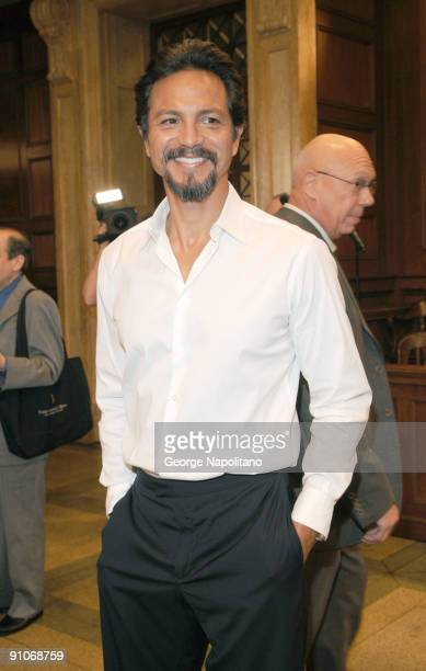 Actor Benjamin Bratt attend the 'Law Order' 20th Season kickoff celebration at the Law Order Studio At Chelsea Piers on September 23 2009 in New York...
