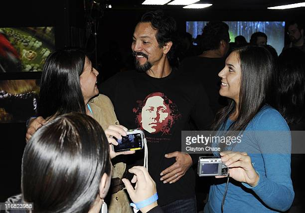 Actor Benjamin Bratt attend the Native Forum Party during the 2009 Sundance Film Festival at the New Frontier on Main on January 22 2009 in Park City...