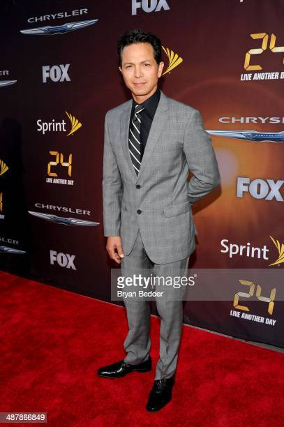 Actor Benjamin Bratt attends 24 Live Another Day World Premiere Event for Fox on Intrepid Sea Air Space Museum on May 2 2014 in New York City