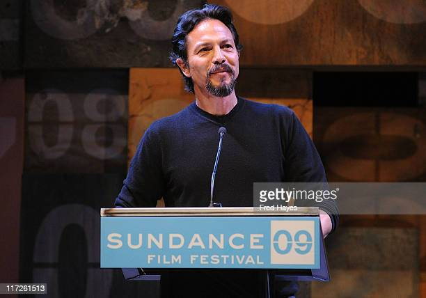 Actor Benjamin Bratt speaks at the Awards Night Ceremony during the 2009 Sundance Film Festival at Racquet Club Theatre on January 24 2009 in Park...