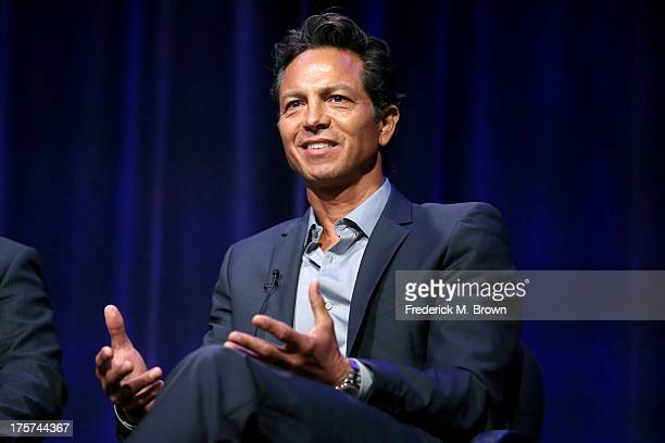 Actor Benjamin Bratt speaks onstage during the 'Latino Americans' panel discussion at the PBS portion of the 2013 Summer Television Critics...