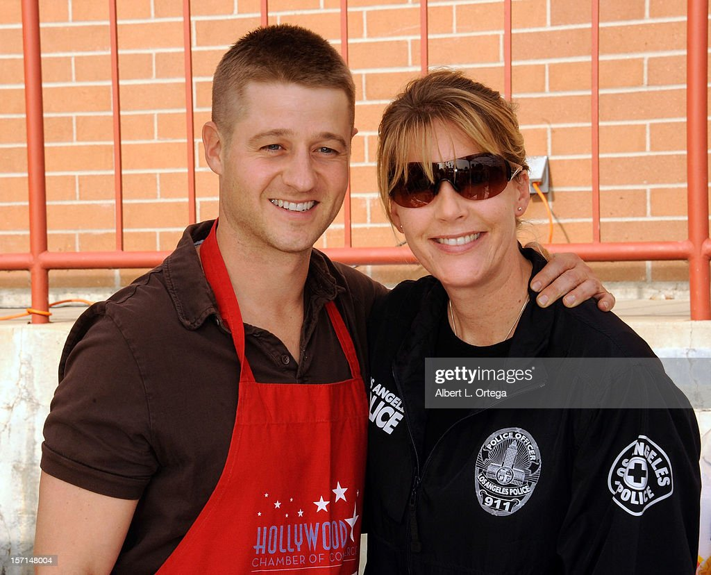Actor Benjamin McKenzie participates in the Hollywood Chamber of Commerce's annual police and firefighters appreciation day at the Hollywood LAPD station on November 28, 2012 in Hollywood, California.