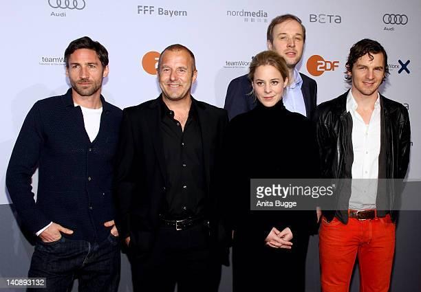 Actor Benjamin Sadler actor Heino Ferch actress Bernadette Heerwagen actor Stephan Grossmann and actor Felix Klare attend the 'Muenchen 72 Das...