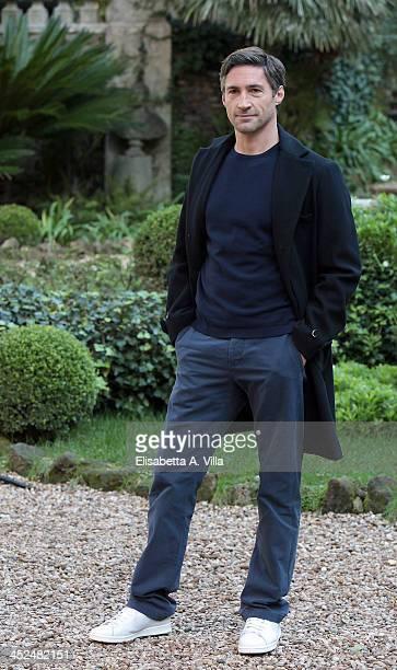 Actor Benjamin Sadler attends 'Anna Karenina' fiction TV photocall at Hotel De Russie on November 29 2013 in Rome Italy