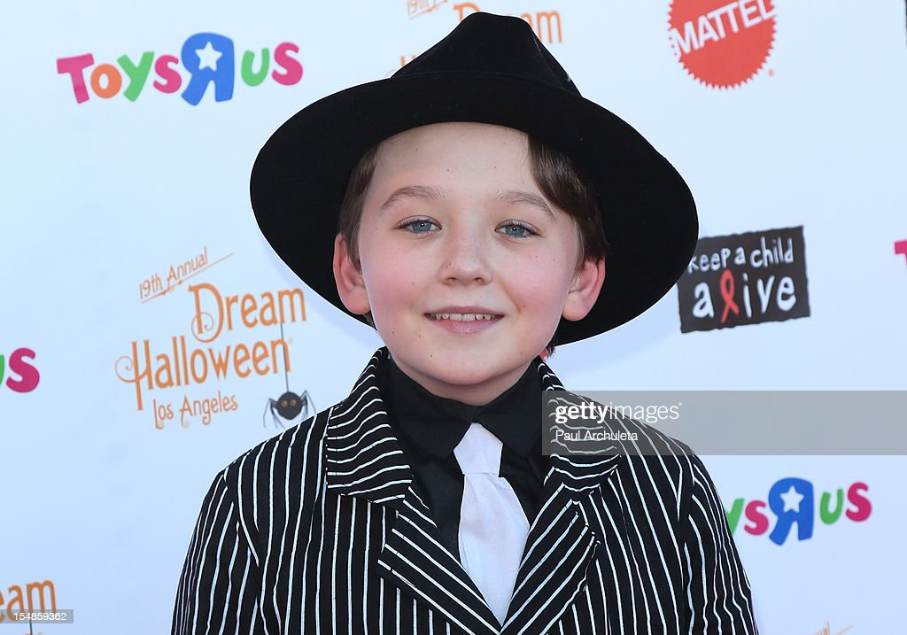 Actor Benjamin Stockham attends the Keep A Child Alive 2012 Dream Halloween Los Angeles charity event at Barker Hangar on October 27, 2012 in Santa Monica, California.