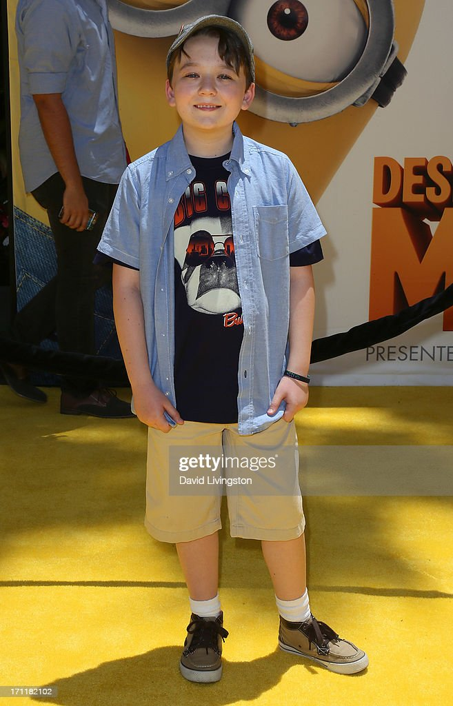 Actor Benjamin Stockham attends the premiere of Universal Pictures' 'Despicable Me 2' at the Gibson Amphitheatre on June 22, 2013 in Universal City, California.