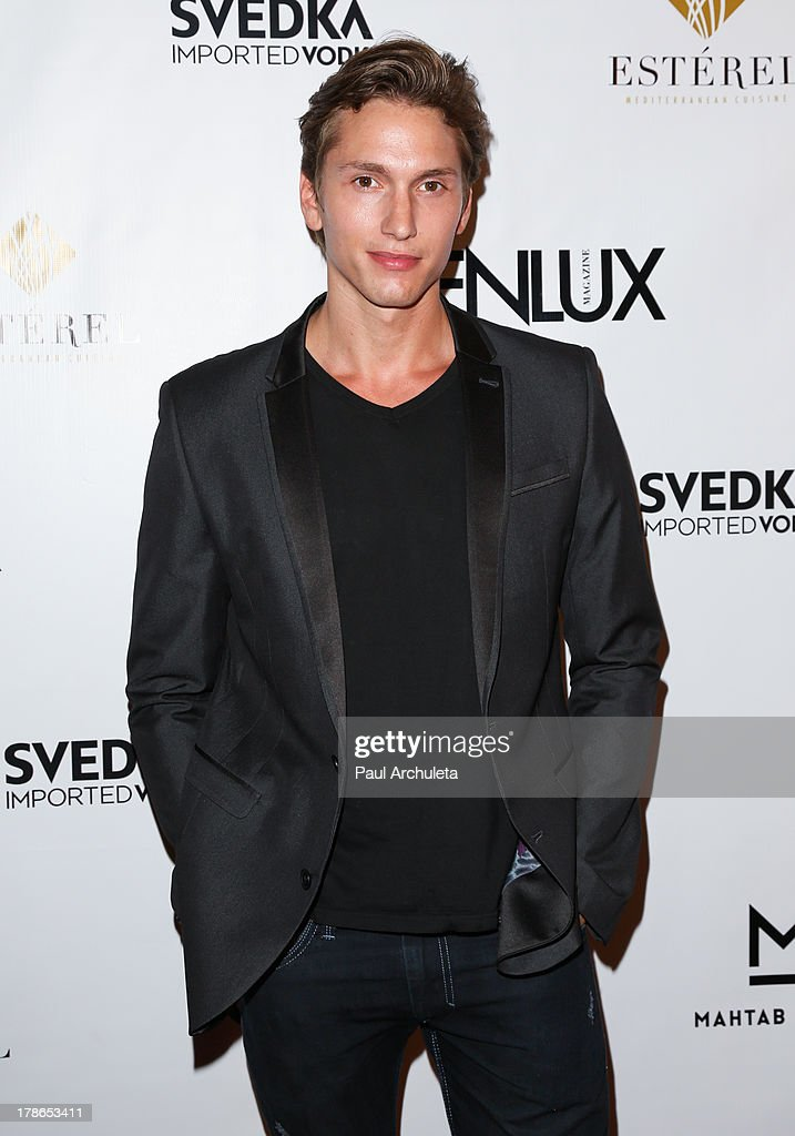 Actor Benjamin Stone attends the Genlux Magazine release party at Sofitel Hotel on August 29, 2013 in Los Angeles, California.