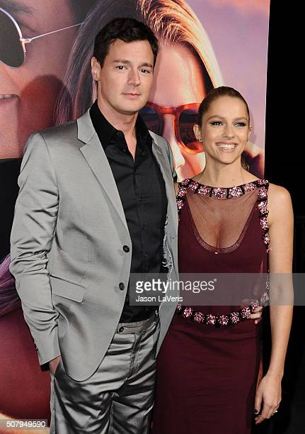 Actor Benjamin Walker and actress Teresa Palmer attend the premiere of 'The Choice' at ArcLight Cinemas on February 1 2016 in Hollywood California