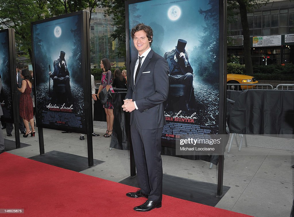Actor <a gi-track='captionPersonalityLinkClicked' href=/galleries/search?phrase=Benjamin+Walker+-+Actor&family=editorial&specificpeople=3953750 ng-click='$event.stopPropagation()'>Benjamin Walker</a> attends the 'Abraham Lincoln: Vampire Slayer 3D' New York Premiere at AMC Loews Lincoln Square 13 theater on June 18, 2012 in New York City.