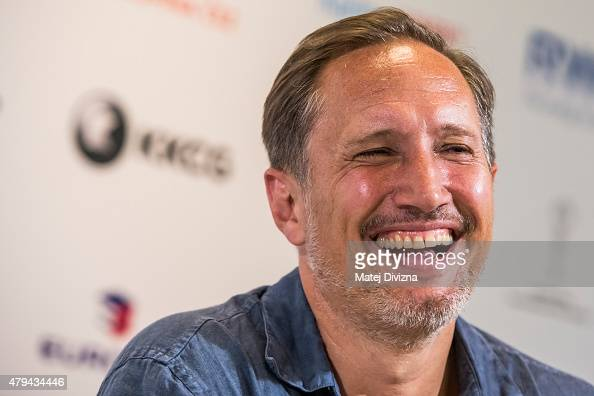 Actor Benno Fuermann attends a press conference to present movie 'Heil' in competition of the 50th Karlovy Vary International Film Festival on July 4...