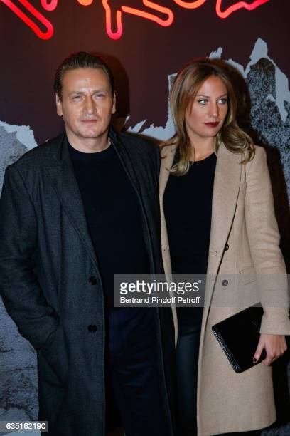 Actor Benoit Magimel and his wife attend the 'Rock'N Roll' Premiere at Cinema Pathe Beaugrenelle on February 13 2017 in Paris France