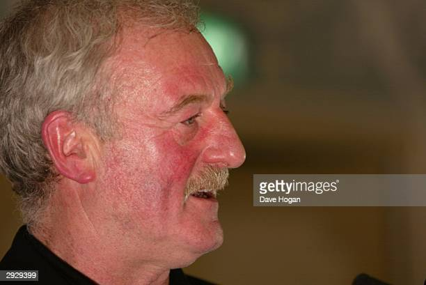 Actor Bernard Hill poses in the pressroom at the 'Sony Ericsson Empire Film Awards' at The Dorchester Hotel on February 4 2004 in London