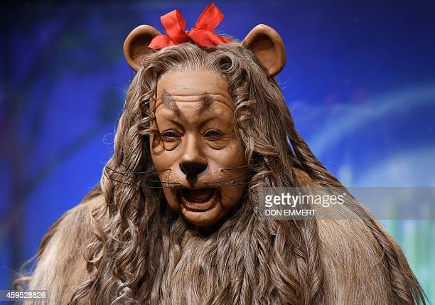 Actor Bert Lahr's 'Cowardly Lion' costume from the 'Wizard of Oz' is on display at Bonham's November 24 2014 in New York The costume was part of the...
