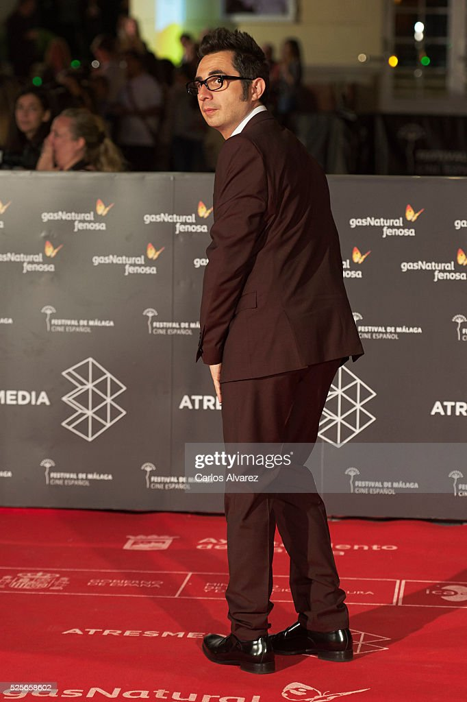 Actor Berto Romero attends 'La Ultima Piel' premiere at the Cervantes Teather during the 19th Malaga Film Festival on April 28, 2016 in Malaga, Spain.
