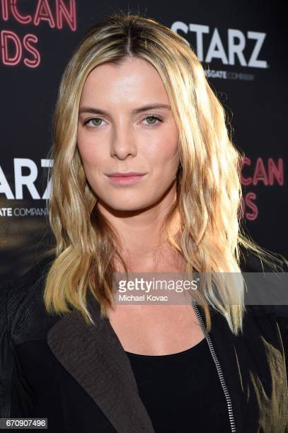 Actor Betty Gilpin attends the 'American Gods' premiere at ArcLight Hollywood on April 20 2017 in Los Angeles California